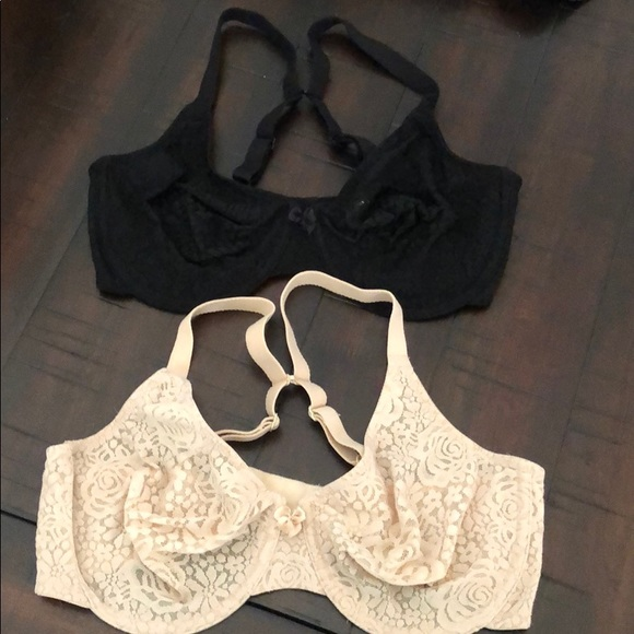 407eb76645 2-Wacoal nude and black Halo lace underwire bras. M 5c587e9703087c1fab4e8696